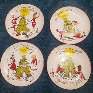Set of 4 Christmas Side Plates